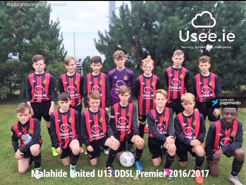 Usee.ie sponsors of Malahide United FC