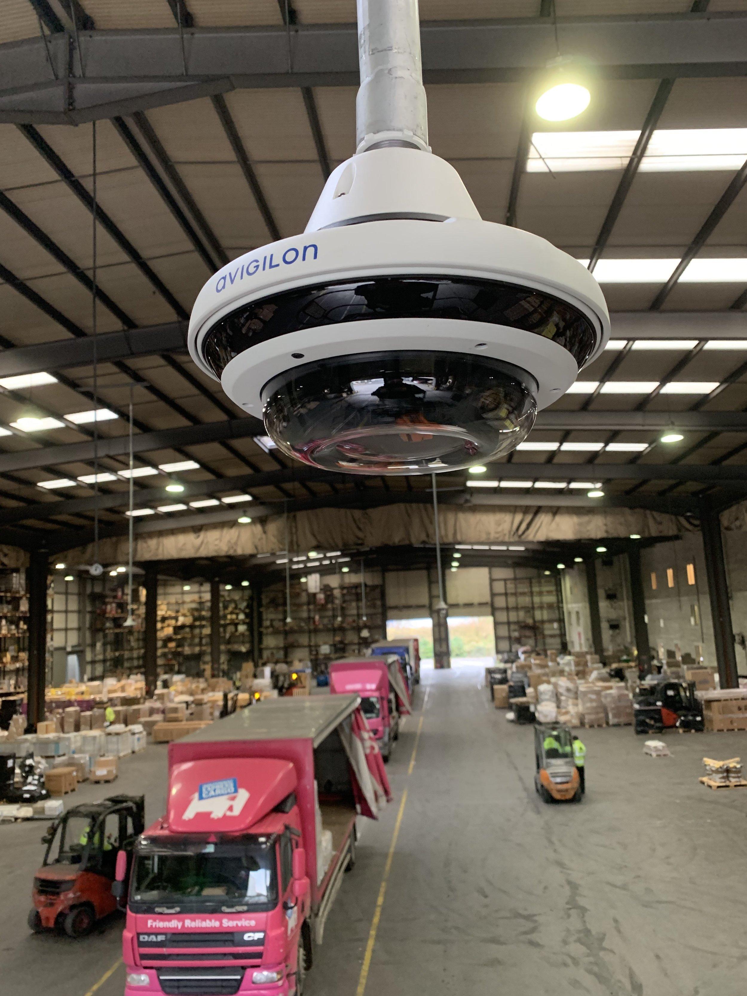 Multi- sensor camera installed in a logistics centre