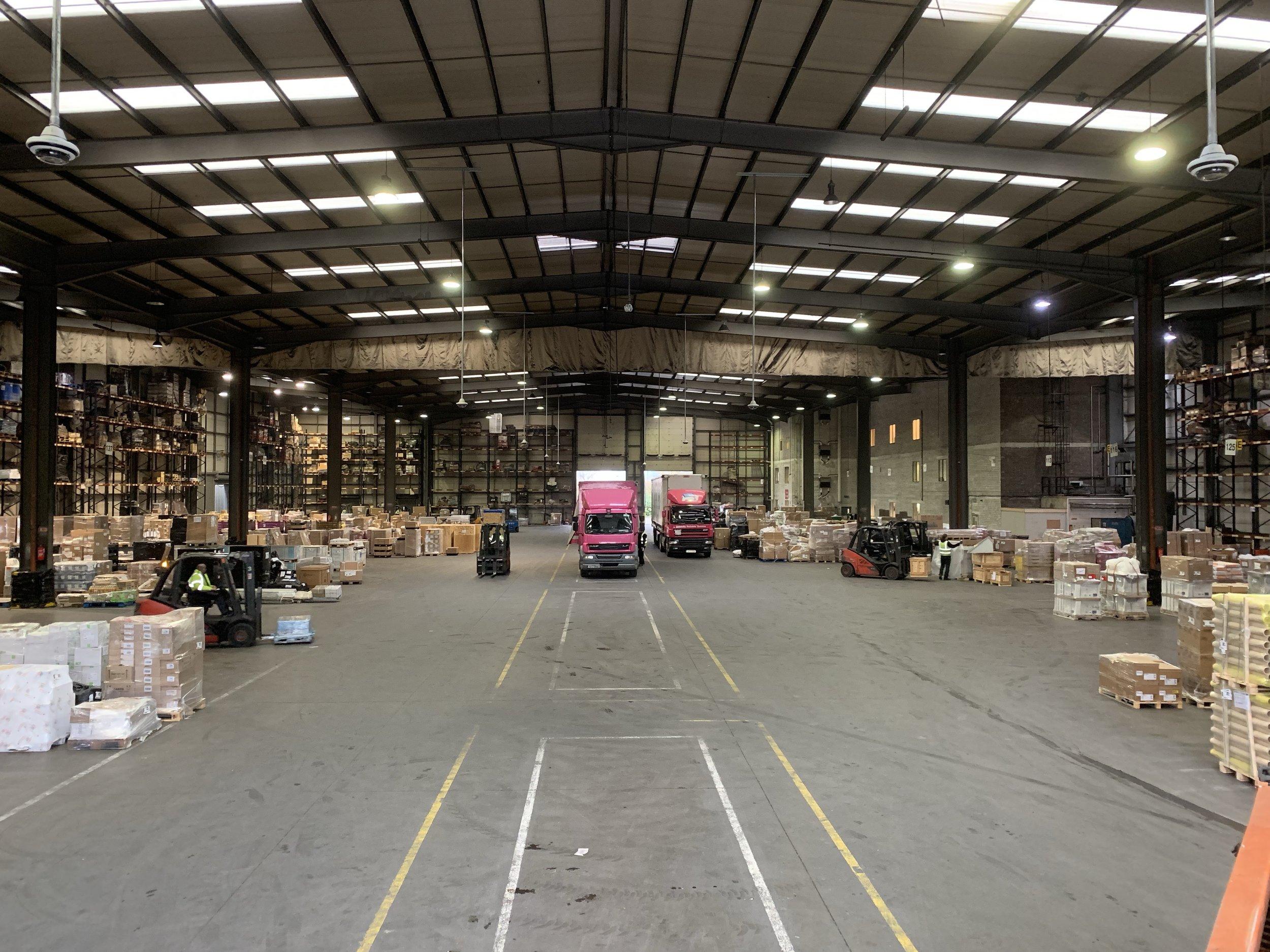 The loading area