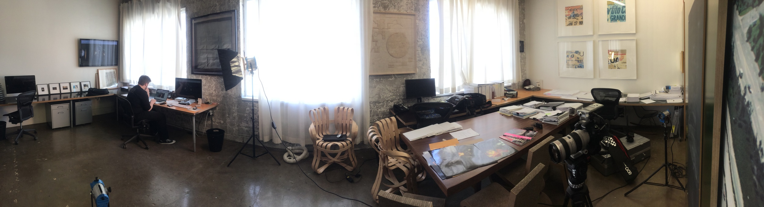 Panorama of the office