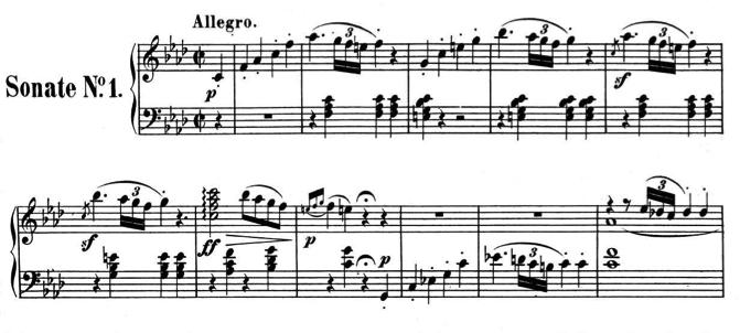 Piano Sonata  #1 Opus 2, No. 1