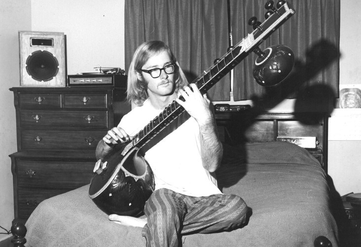 Moore  playing his sitar, 1971. (Photo by M.P.  Moore )