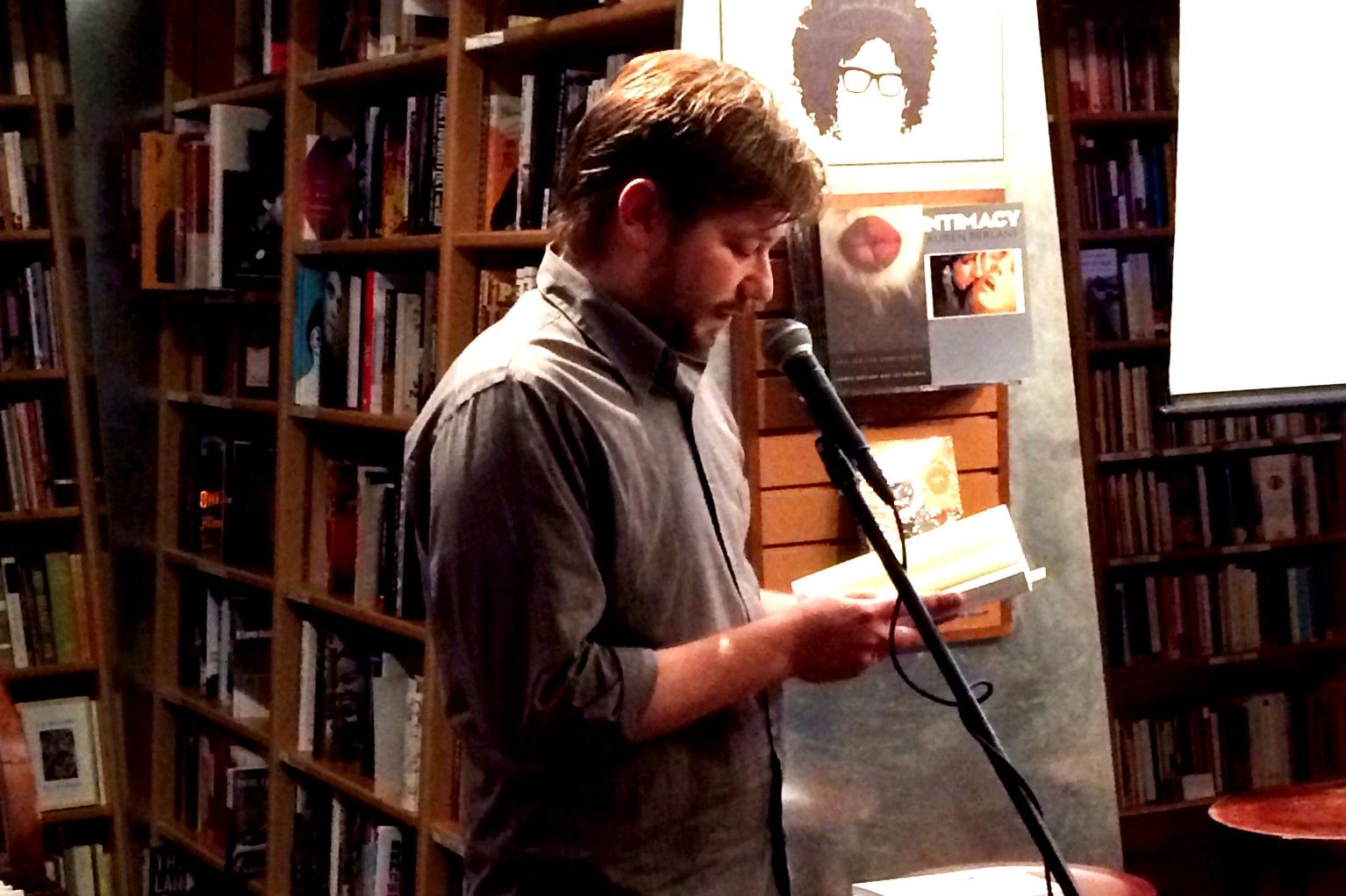 Taylor Davis-Van Atta reading at McNally Jackson © Justin Alvarez