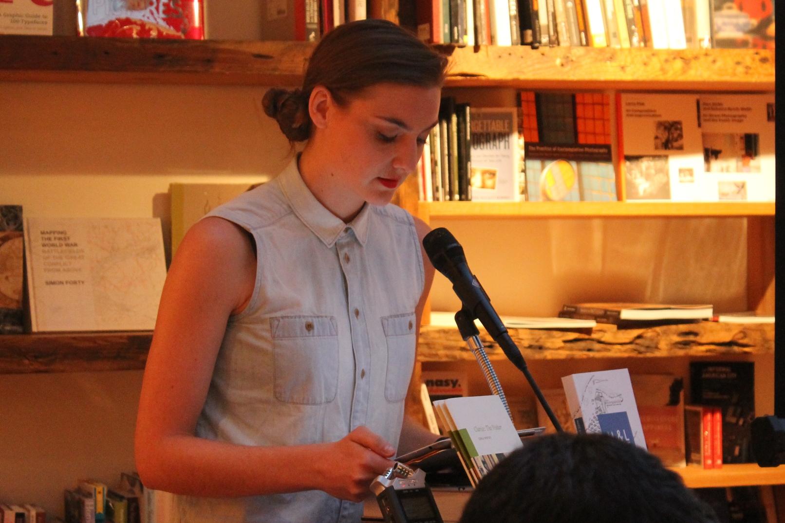 Rachel Hurn reads from Mary Ruefle's poetry at Bookcourt © Rachel Caplan