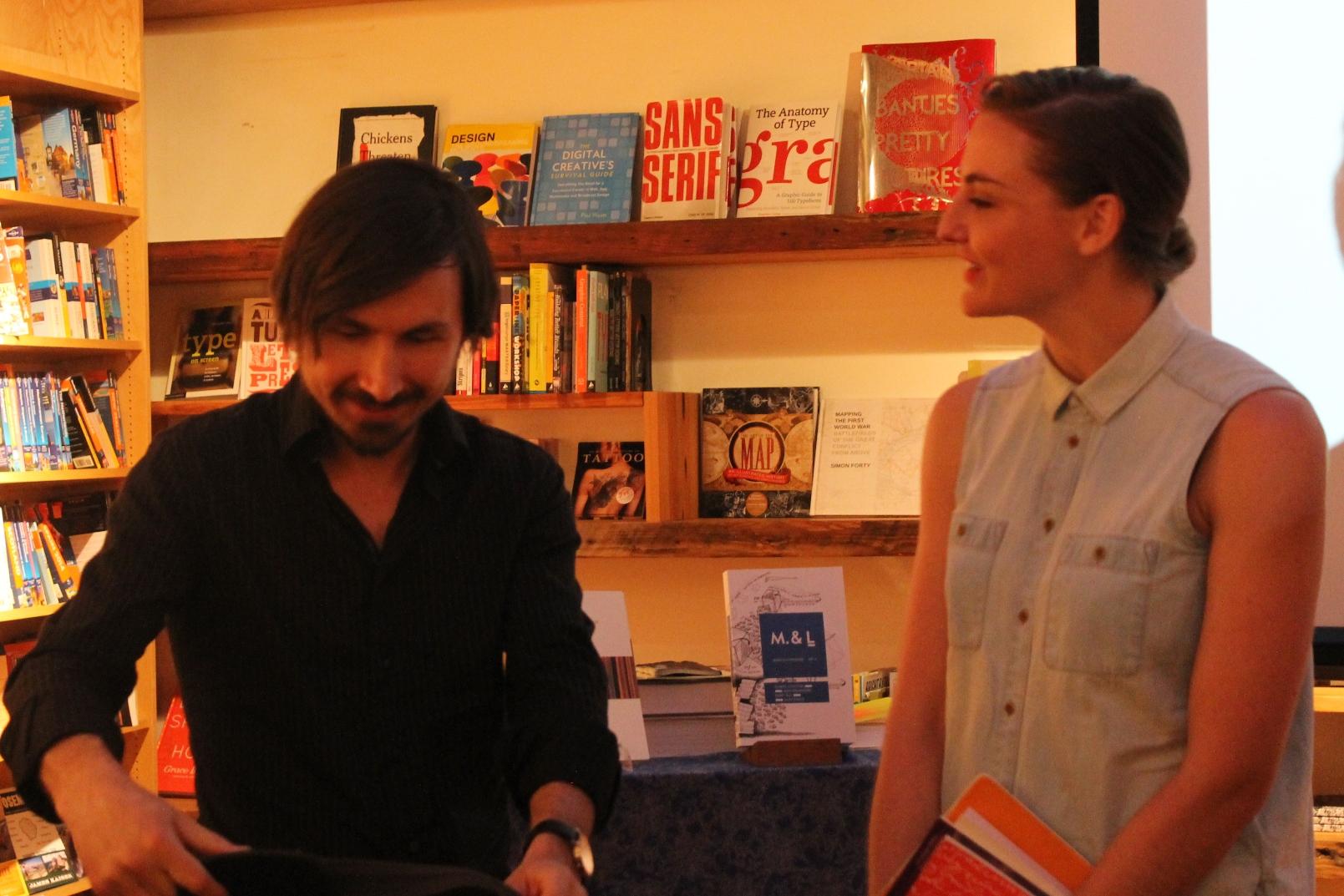 Stefan Tobler and Rachel Hurn in conversation © Rachel Caplan