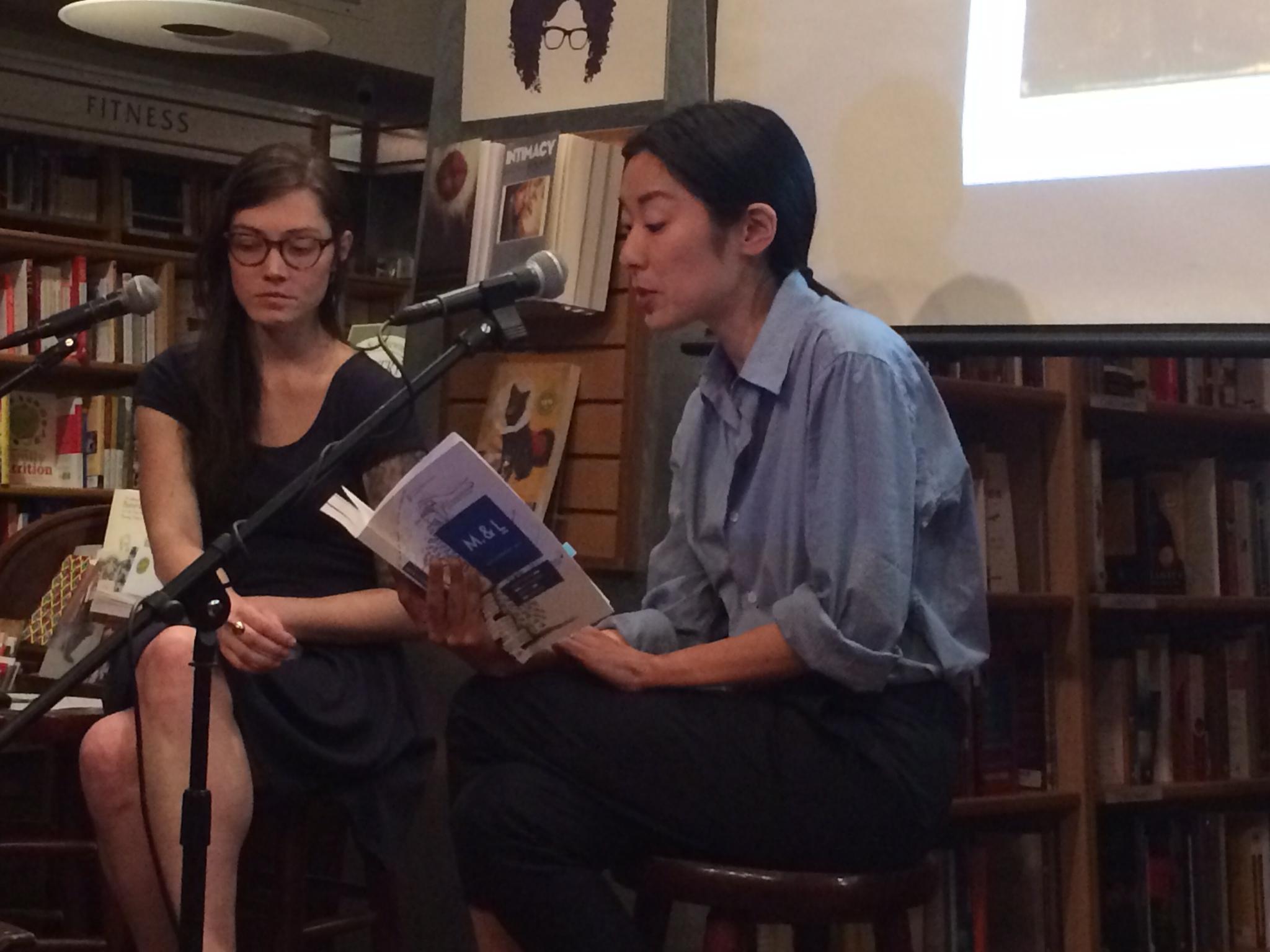 Sarah Gerard (left) and Katie Kitamura (right) discuss Clarice Lispector at McNally Jackson. Photo: Justin Alvarez.