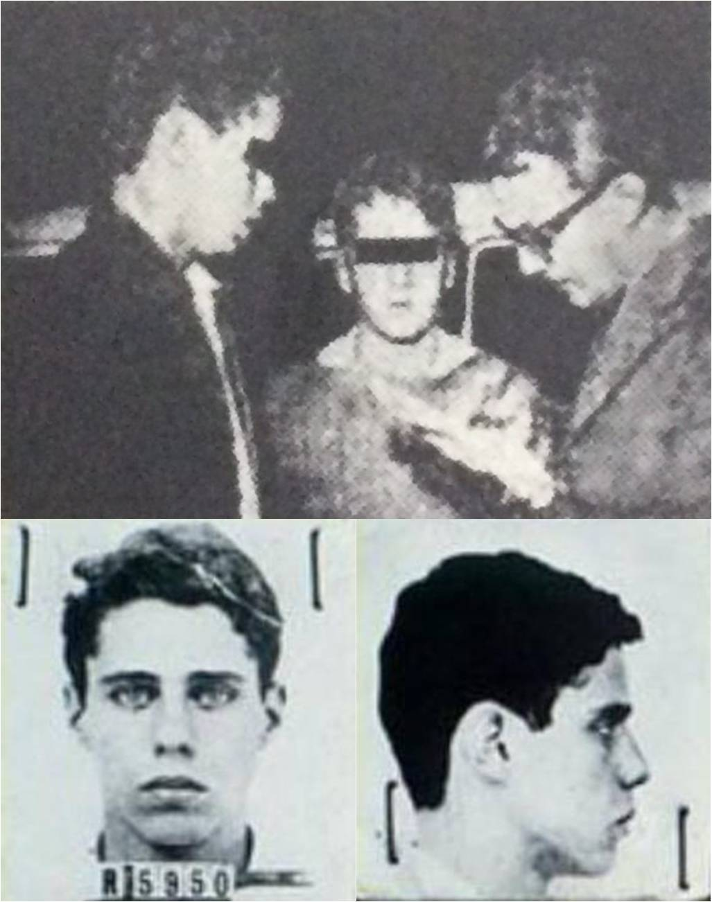 Police photographs of Chico Buarque, 17, upon his arrest in 1961