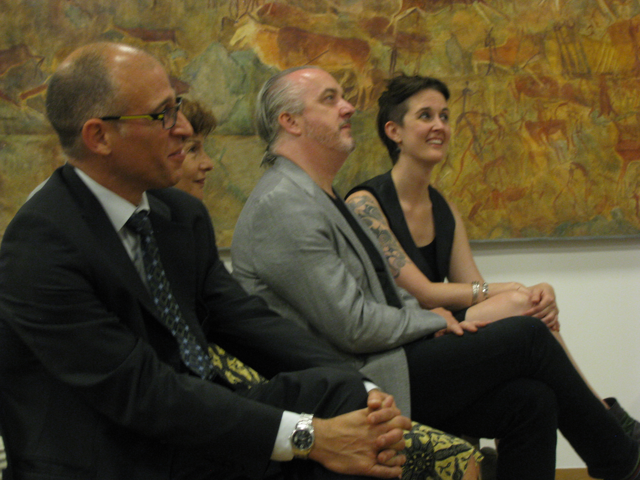Left to right: Leonardo Tonus, Gabriella Scheer, Benjamin Dwyer, Kimberley Campanello.