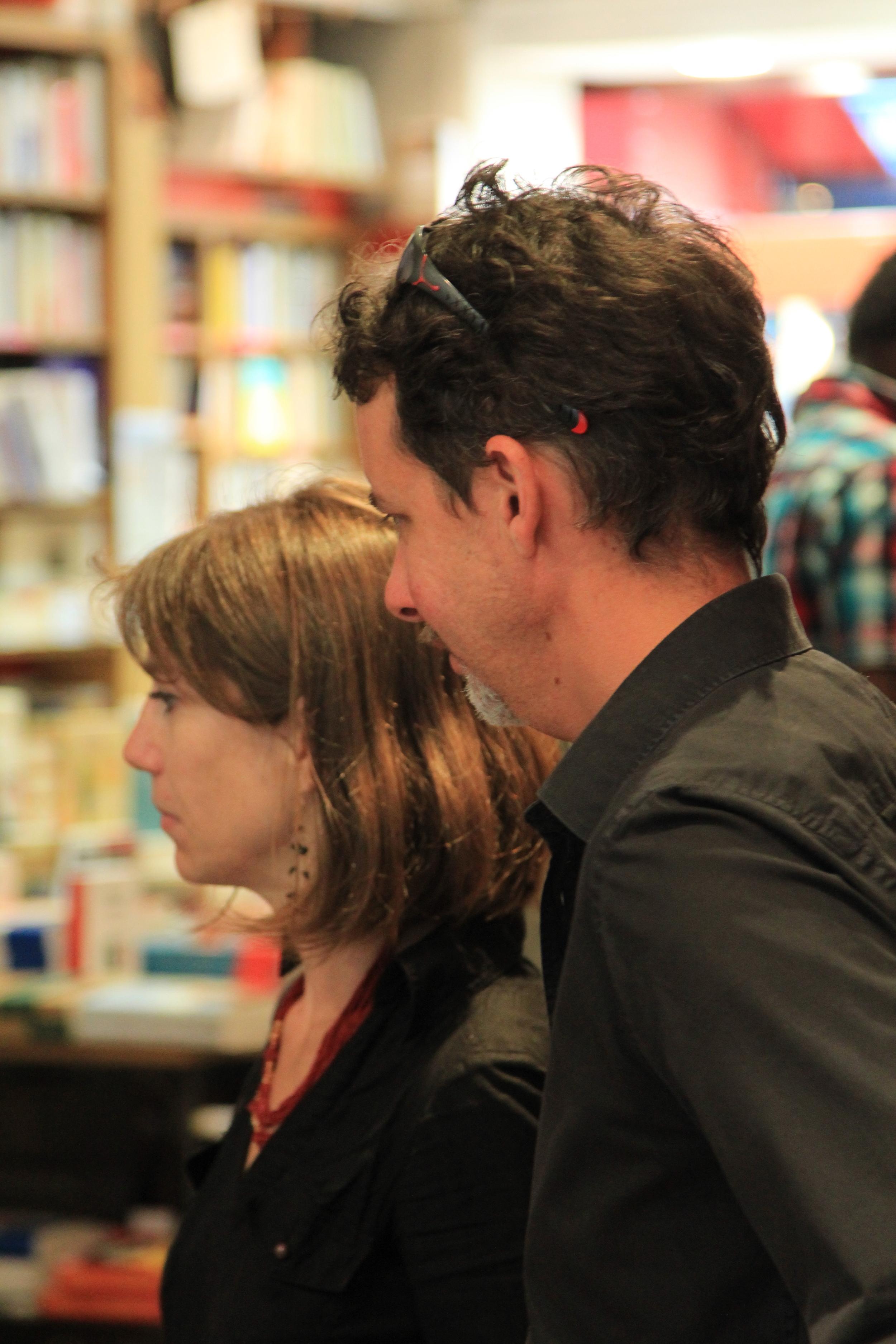 Spectators at Le comptoir des mots. Photo: Dan Gunn.