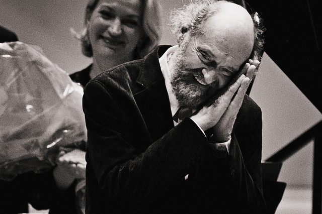 Arvo Pärt, following the May 31, 2014 performance at Carnegie Hall. Photo: Eleri Ever.