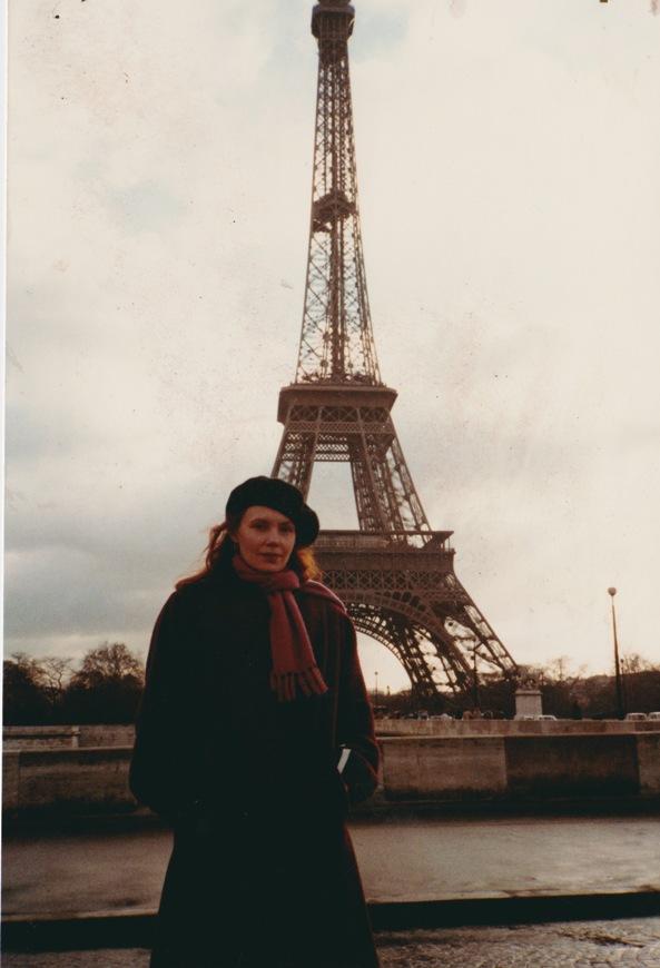 Kaija Saariaho in Paris, 1981 .  Courtesy Kaija Saariaho.