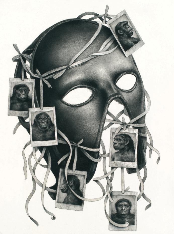 "Sverre Malling, ""Mask: Primates."" 57 x 53 cm, 2013. Courtesy of the artist."
