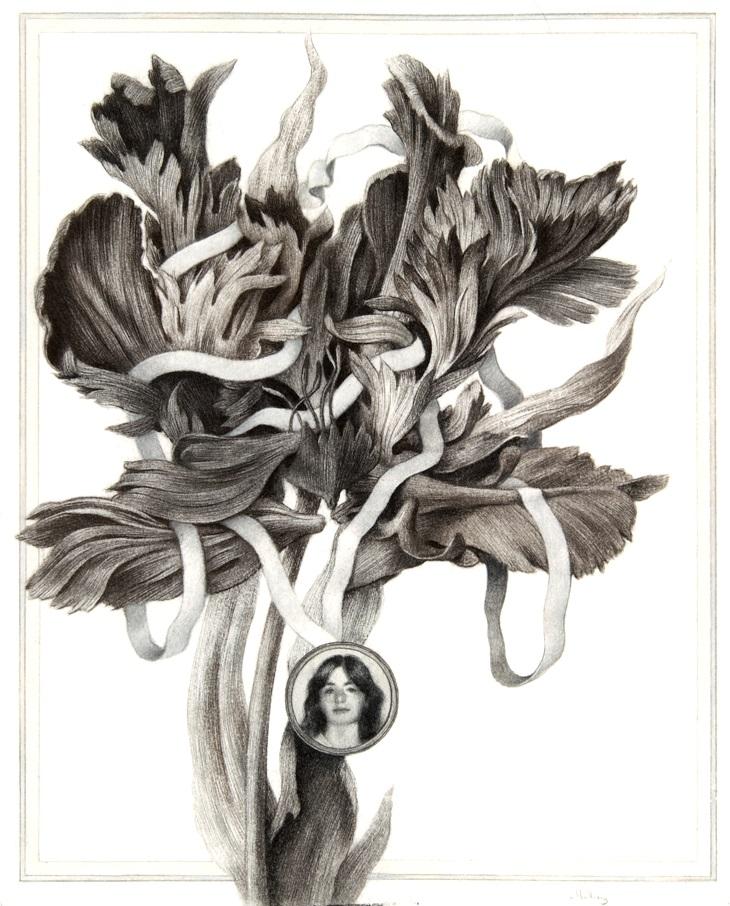 "Sverre Malling, ""Flowers: Fritzl."" 63 x 55 cm, 2013. Courtesy of the artist."