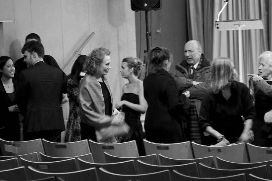 The evening's presenters meet with audience members after the encore