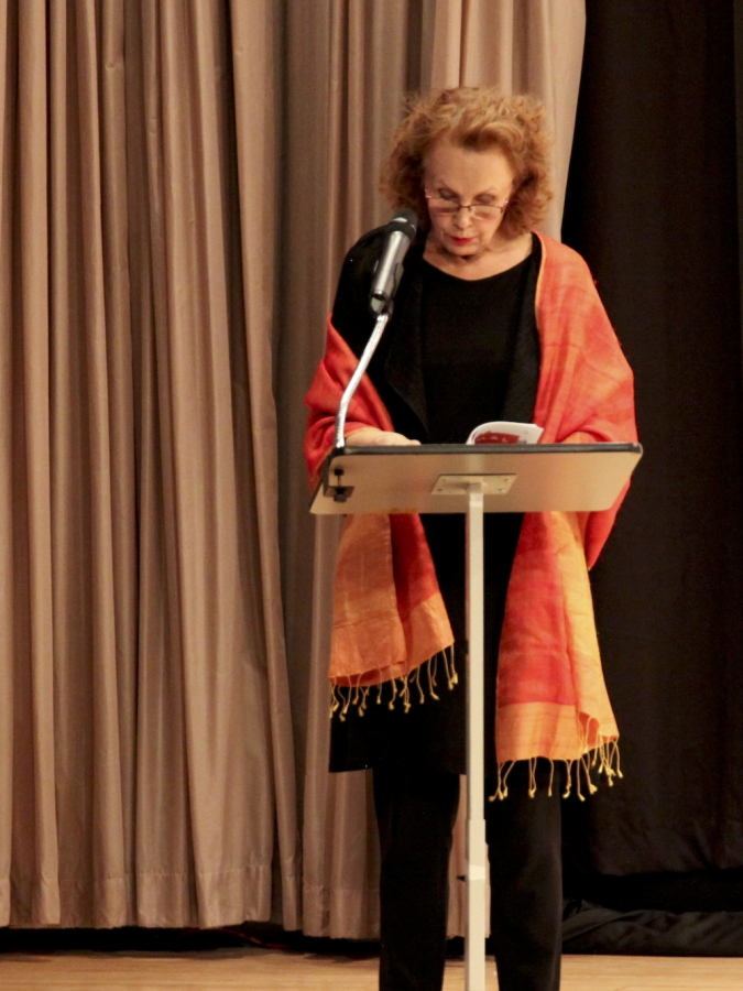 "Kaija Saariaho reads from ""Earth and Air."""
