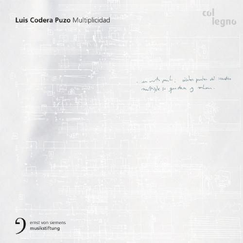 Multiplicidad    by   Luis Codera Puzo     Sarah Maria Sun  (voice)    Ensemble Modern     ensemble recherche UMS 'nJIP CrossingLines    Clemens Heil  ,  Mariano Chiacchiarini ,  Luis Codera Puzo  (conductors)    (Col Legno, October 2014)    Reviewed by   Liam Cagney