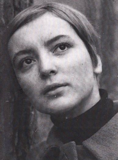 Ugrešić  in 1968. Courtesy of  Dubravka Ugrešić .
