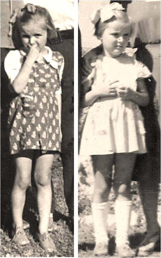 Ugrešić  at 5 years old and 6 years old. Courtesy of  Dubravka Ugrešić.
