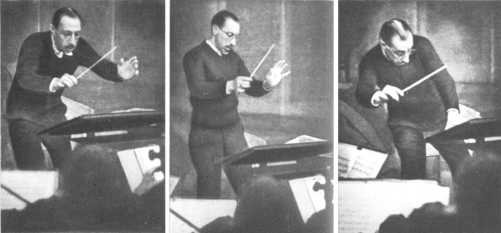 Stravinsky at the podium in 1929