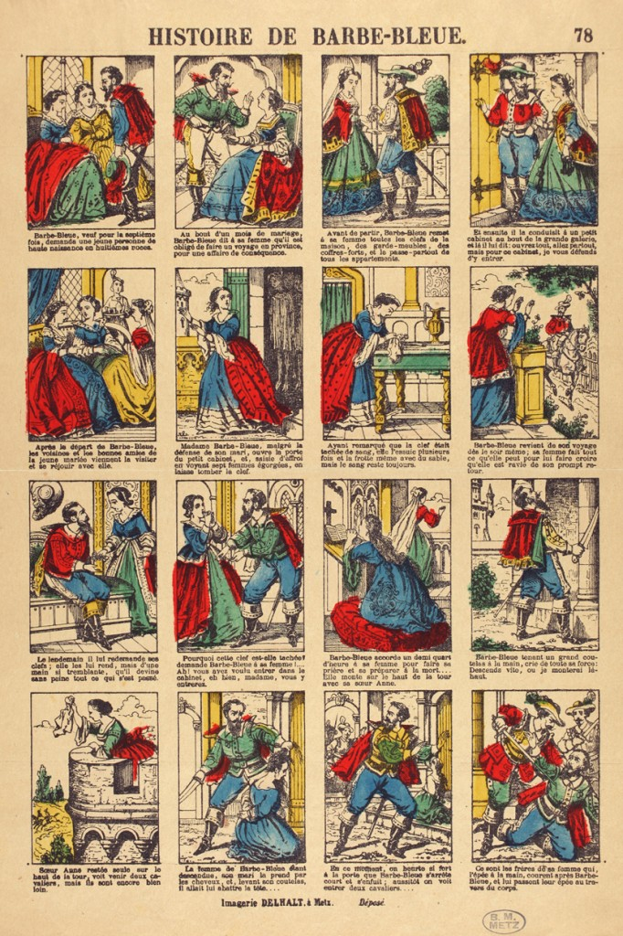Anonymous 19th-century newspaper adaptation of the Bluebeard tale, Metz, France