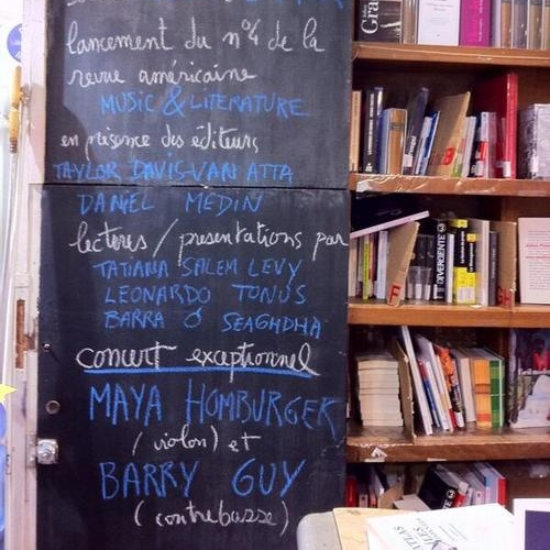 Paris Launches of  Music & Literature  no. 4 at Goethe-Institut and Le Comptoir des Mots