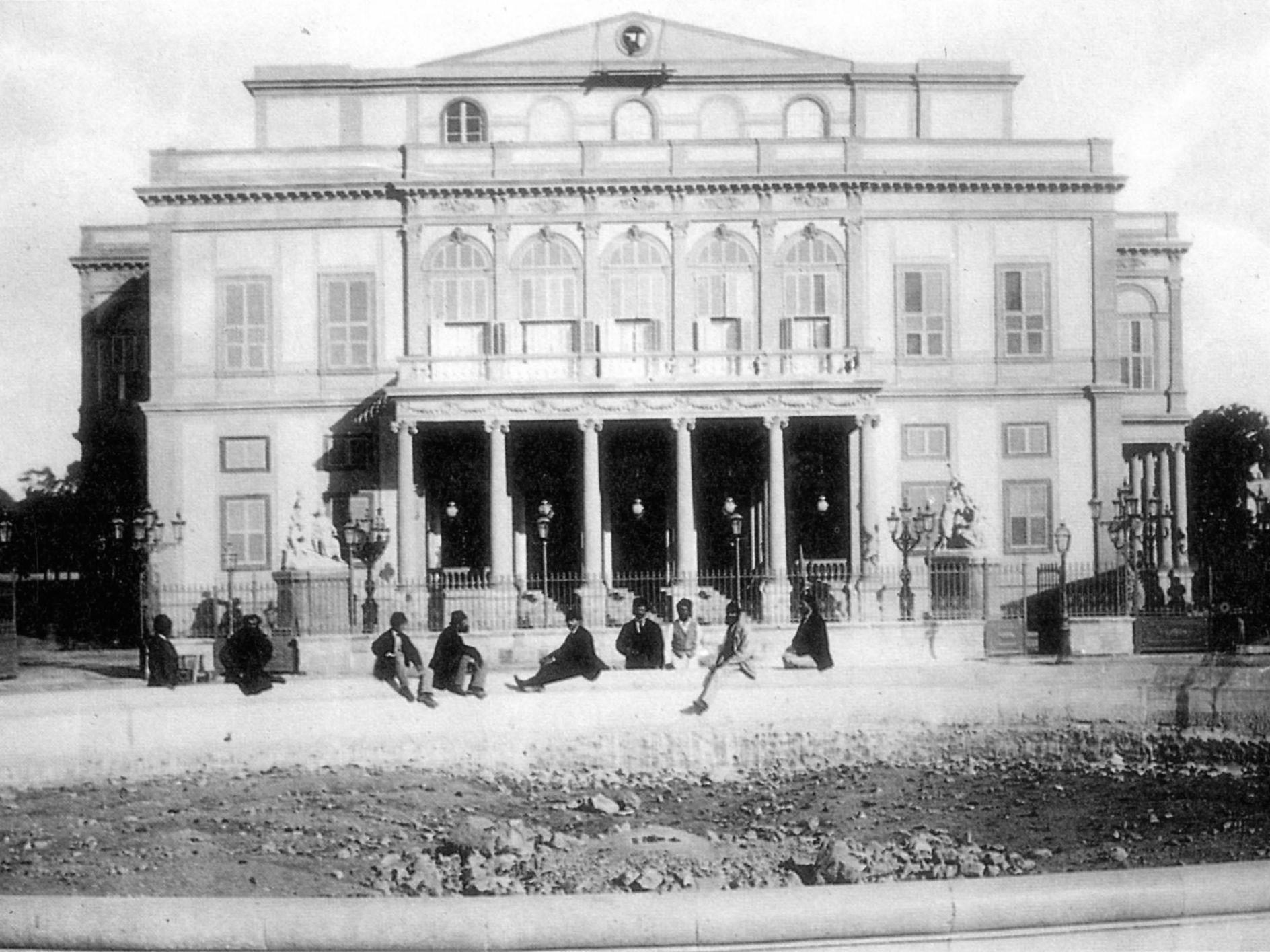 The Khedivial Opera House in the year it first opened in Cairo, 1869. Courtesy of the Bibliotheca Alexandrina.