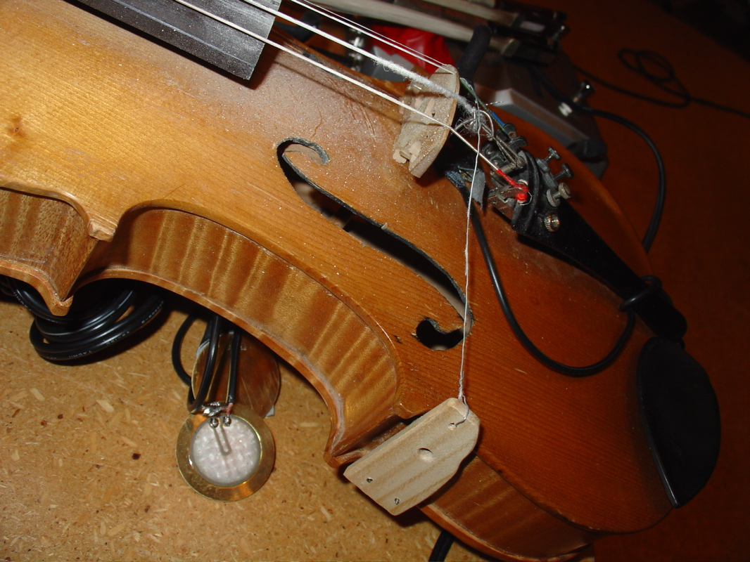 Tony Conrad 's modified violin (photo credit: Alex Sanders)