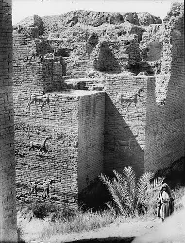 Ishtar Gate: the ruins of the Grand Entrance to Babylon. Credit: Library of Congress via wikimedia.
