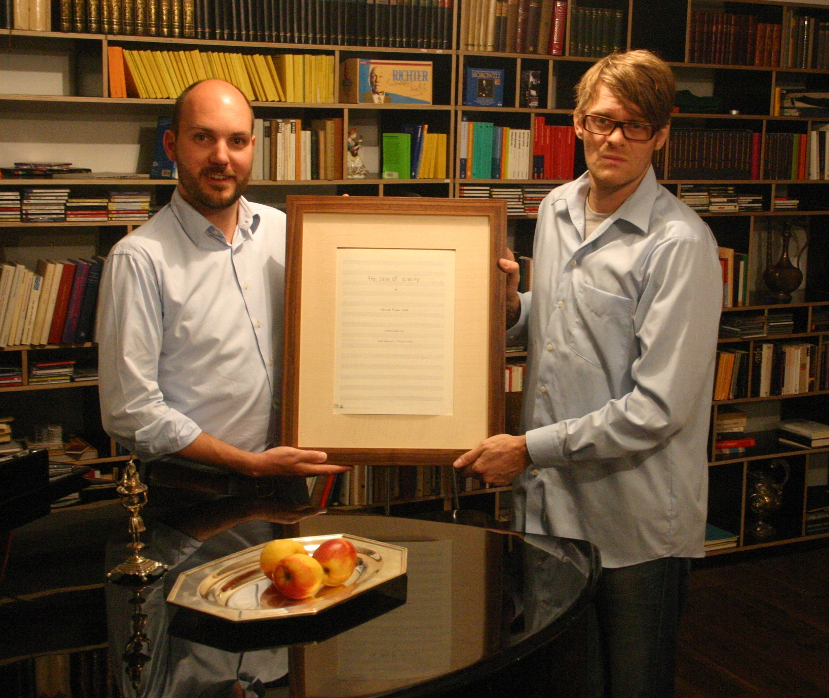 Frank  (right) with one of the investors in   The Law of Quality