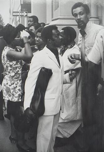 Albert Ayler  &  Milford Graves  at the funeral of  John Coltrane