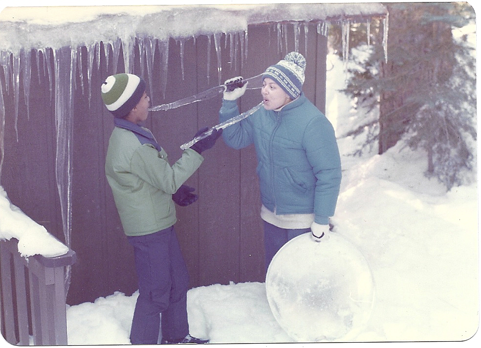 Mark Turner, age 12, with his mother at Lake Arrowhead, California. Courtesy of the artist.