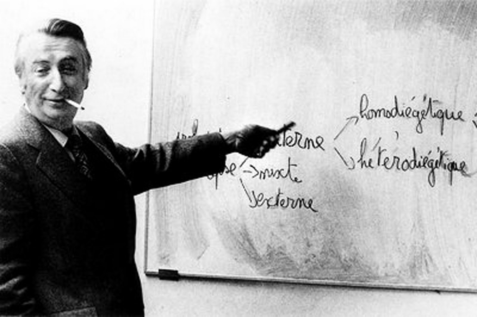 Roland Barthes during one of his lecture courses at the Collège de France