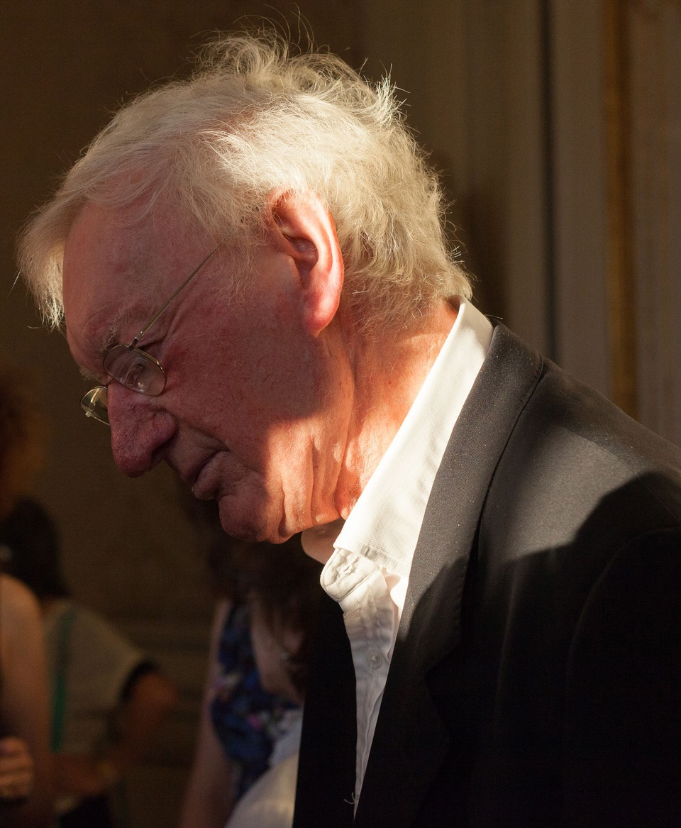 George Craig at the launch party celebrating the publication of  The Letters of Samuel Beckett  vol. IV, hosted at the Irish embassy in Paris, September 2016.