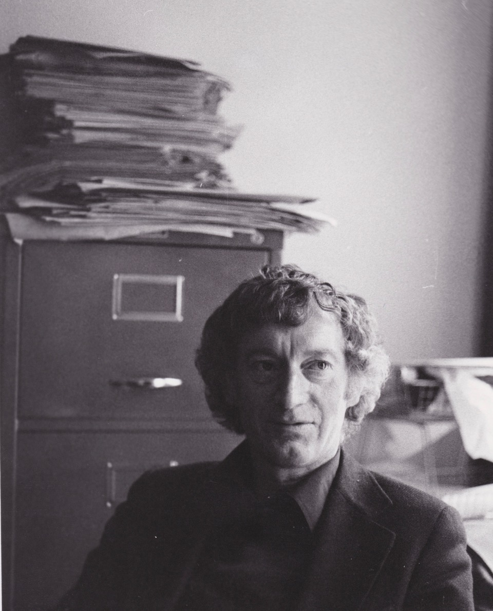 George Craig in his office at the University of Sussex, c. 1978.