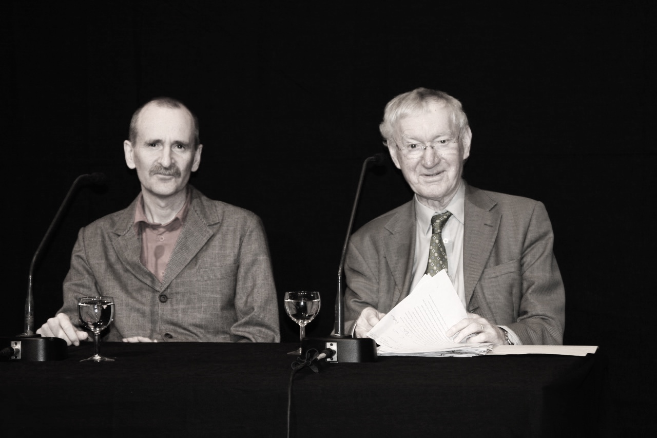 George Craig with Dan Gunn (L) at the Irish Cultural Centre in Paris for the launch of  The Letters of Samuel Beckett  vol. I, October 2009.