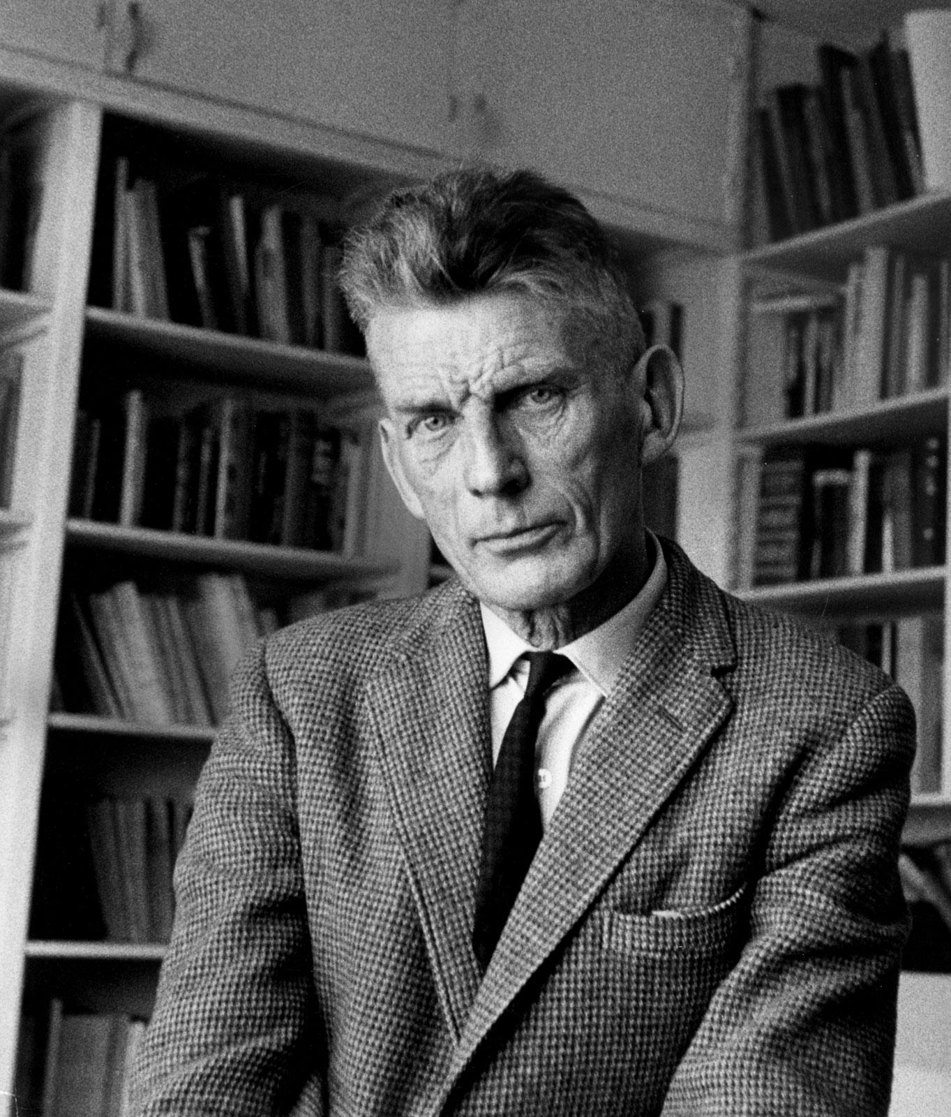 Samuel Beckett in 1965. © Gisèle Freund, via Encyclopædia Brittanica