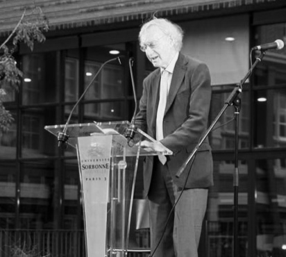 George Craig at the launch of  The Letters of Samuel Beckett ,   vol. II, at the Bibliothèque Sainte-Barbe, Paris, 2011.