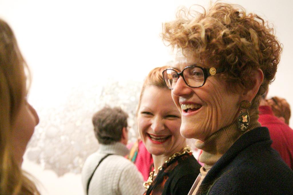 Karen Kettering Dimit, chatting with Magic Garden's Ellen Owens and Samantha Holmes.