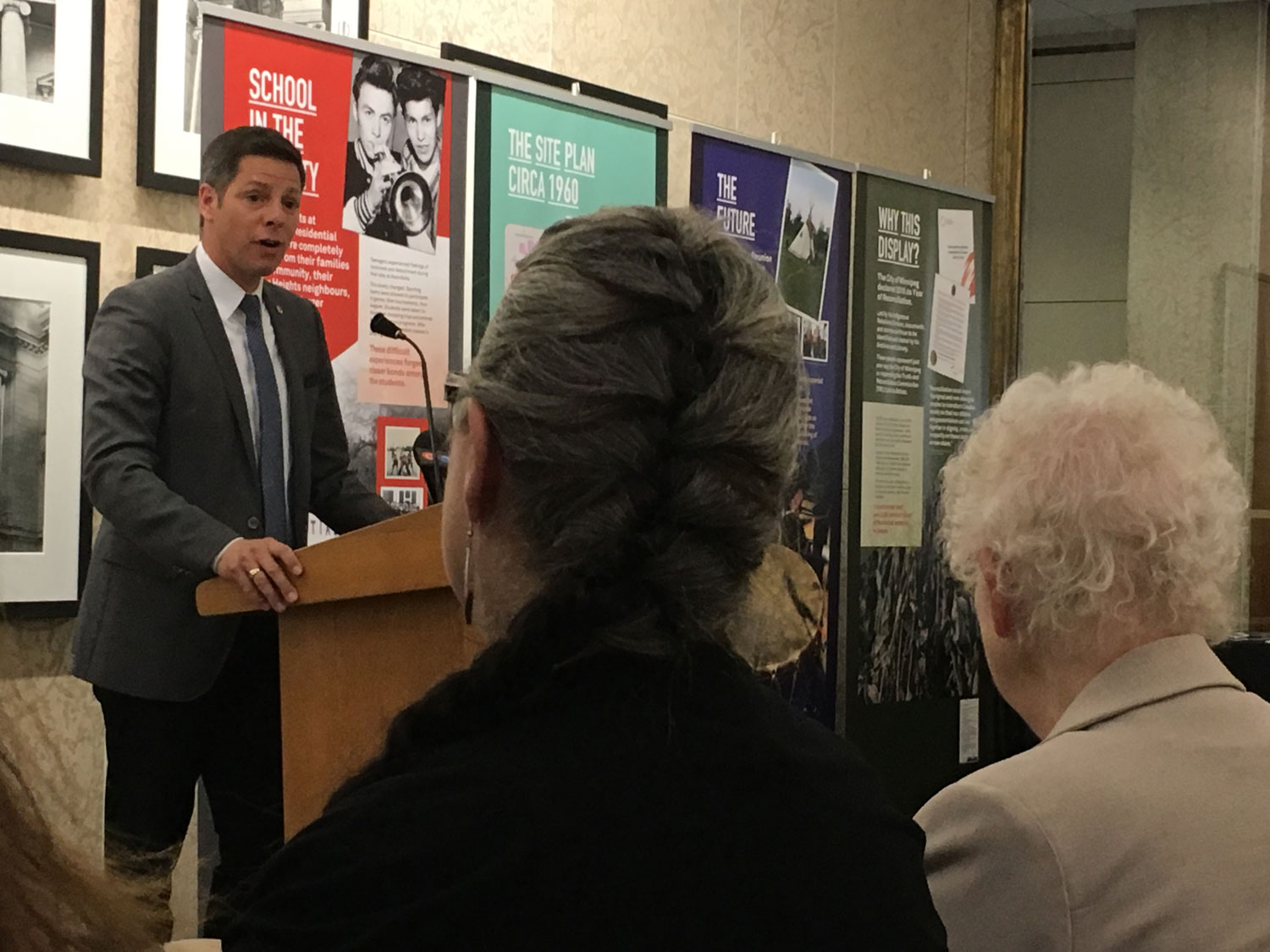 Mayor Brian Bowman gives the opening speech at City Hall.