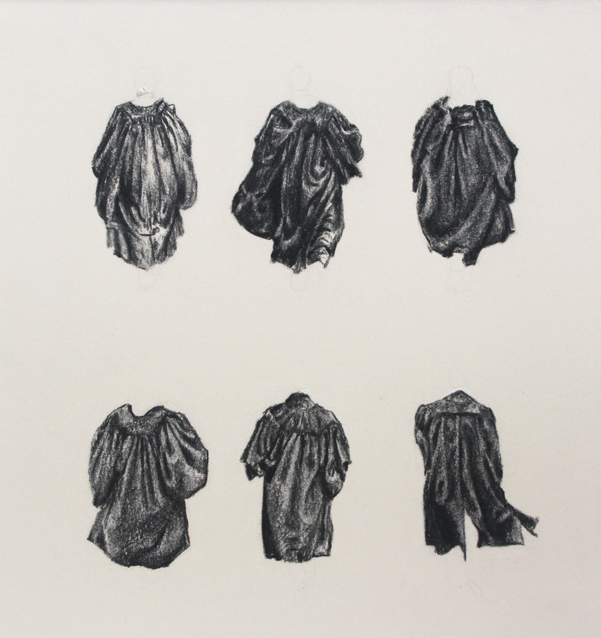Six Studies of Barristers' Gowns