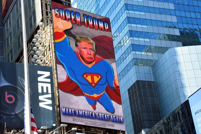Times Square durante la campagna elettorale.