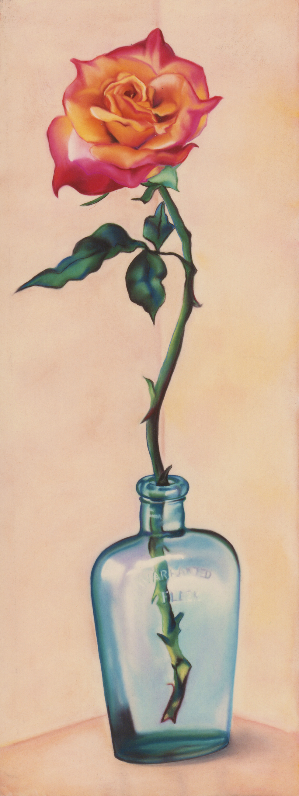 """Warranted Flask"" pastel, 21x37"""