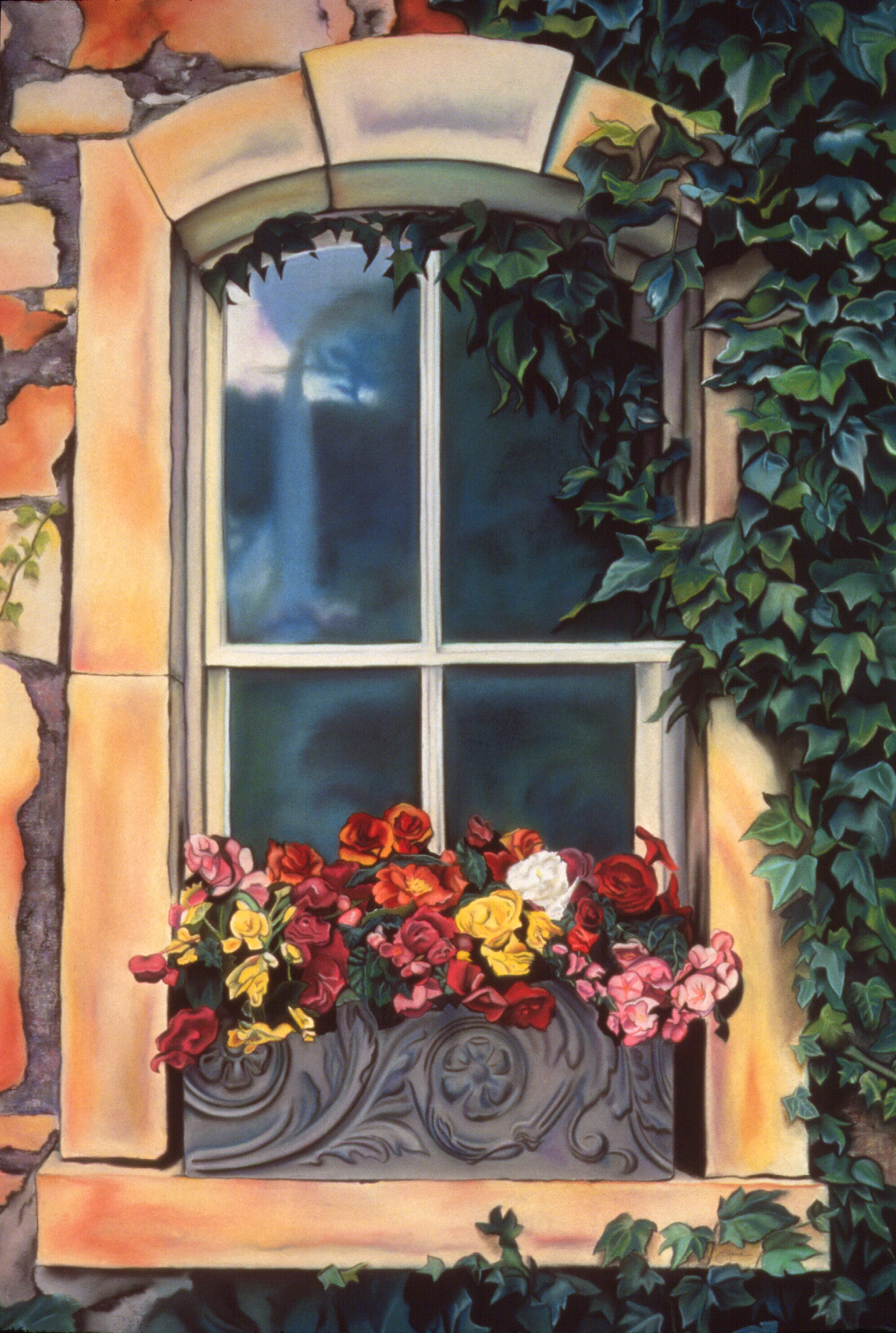 """Window Box"" pastel, 31x43"""