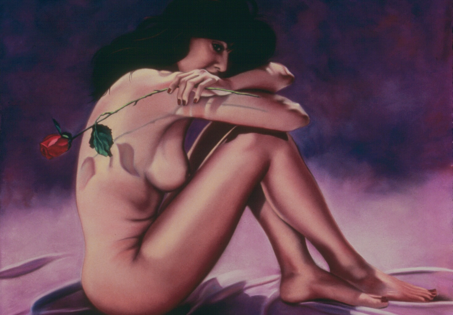 """""""Eva with Rose""""pastel, 39x28""""  AVAILABLE / $1,500"""