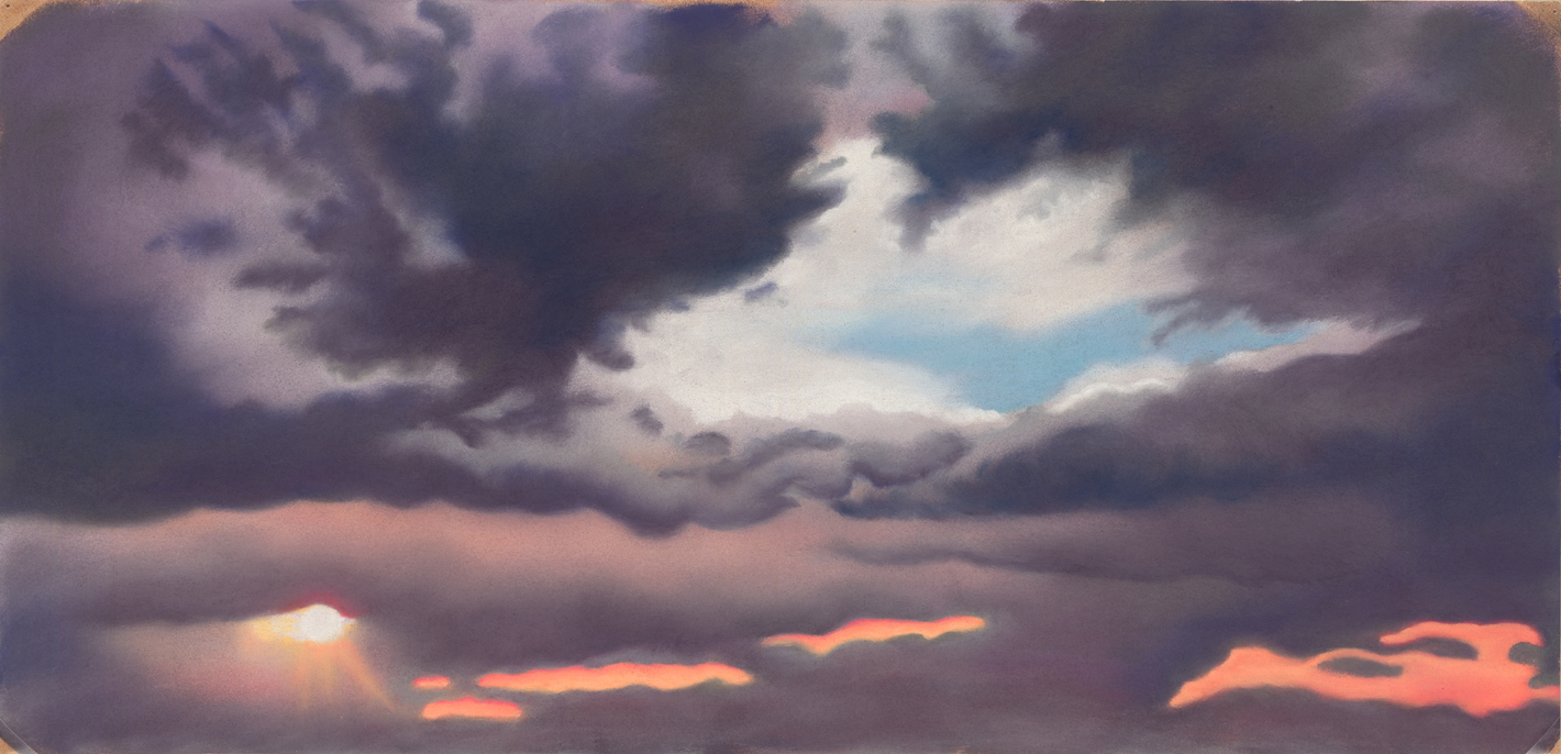 """""""Break in the Clouds""""  pastel, 9x19""""  AVAILABLE / $350"""