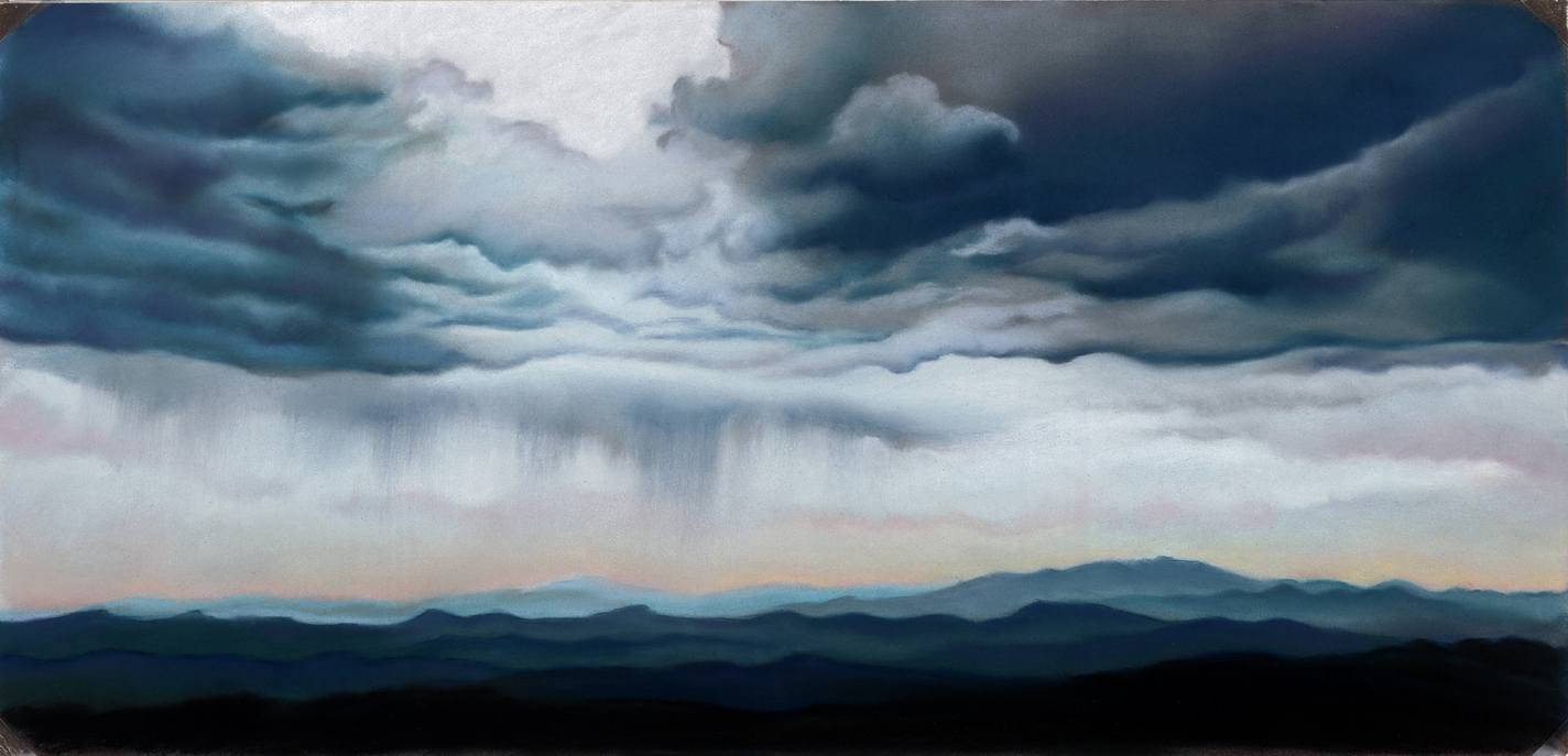 """""""Colorado Summer Storm""""  pastel, 9x19""""  AVAILABLE / $350"""