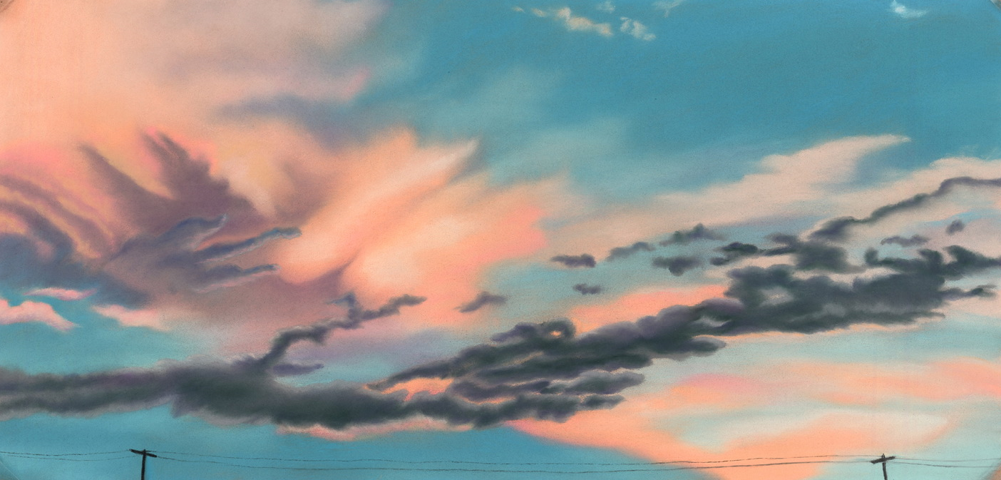 """""""New Day"""" pastel, 9x19"""" AVAILABLE / $350"""
