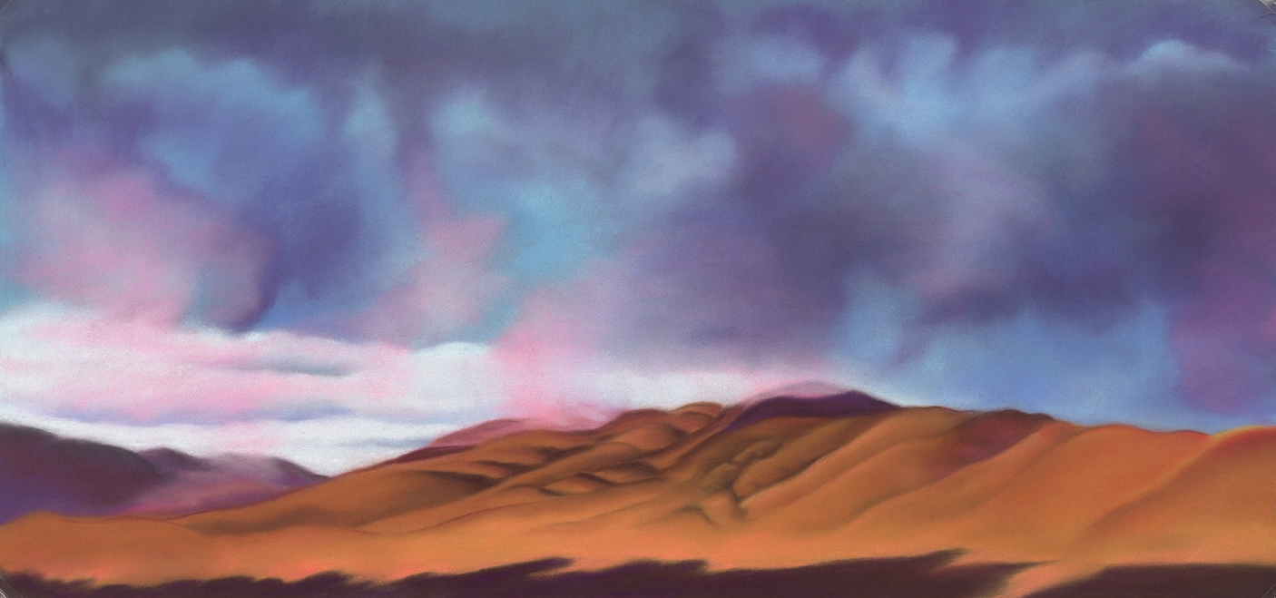 """""""New Mexico Winter Sky"""" pastel, 9x19""""   AVAILABLE / $350"""