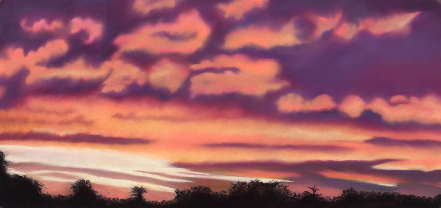 """Phoenix Sunset"" pastel, 9x19"""