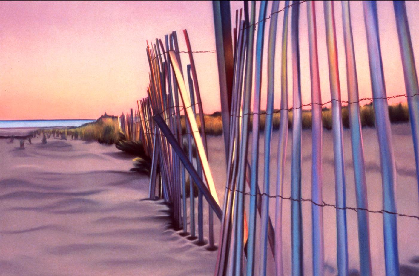 """Fence"" pastel, 50x35"""